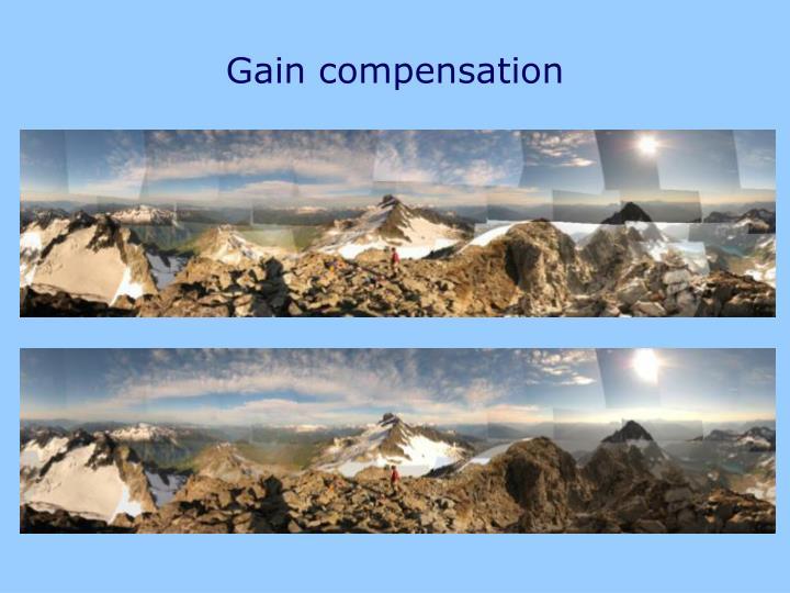 Gain compensation