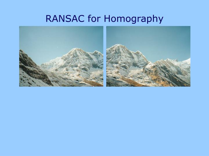 RANSAC for Homography