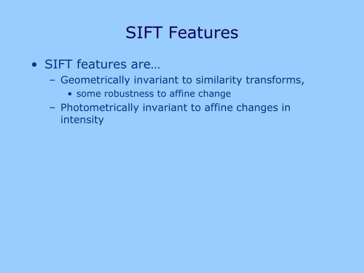 SIFT Features