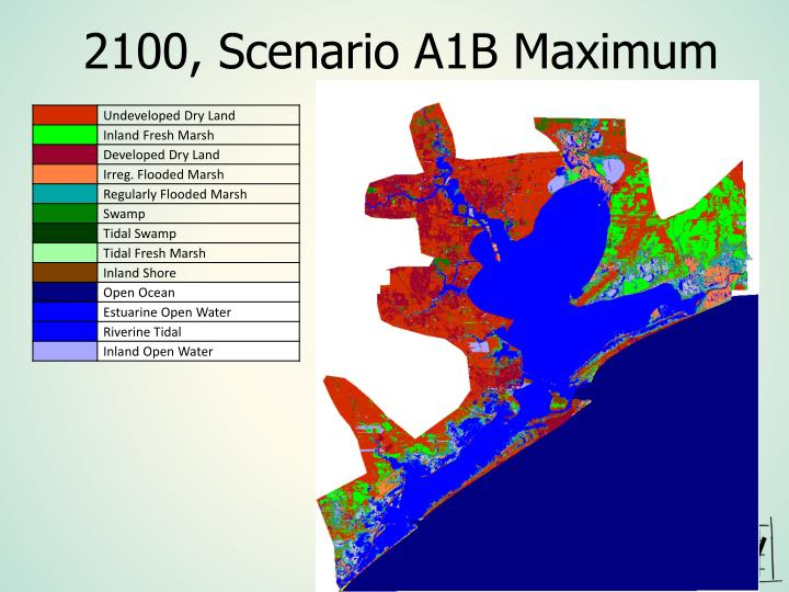 2100, Scenario A1B Maximum