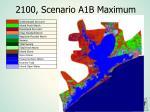 2100 scenario a1b maximum