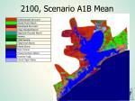 2100 scenario a1b mean