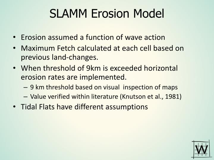 SLAMM Erosion Model