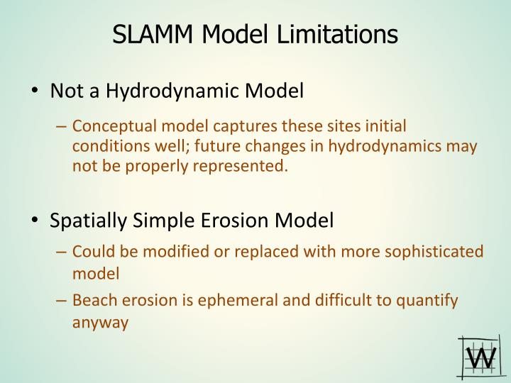 SLAMM Model Limitations