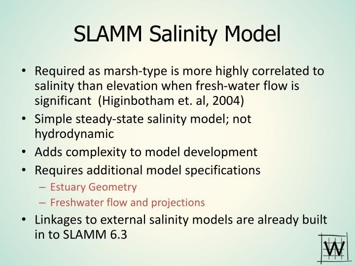 SLAMM Salinity Model