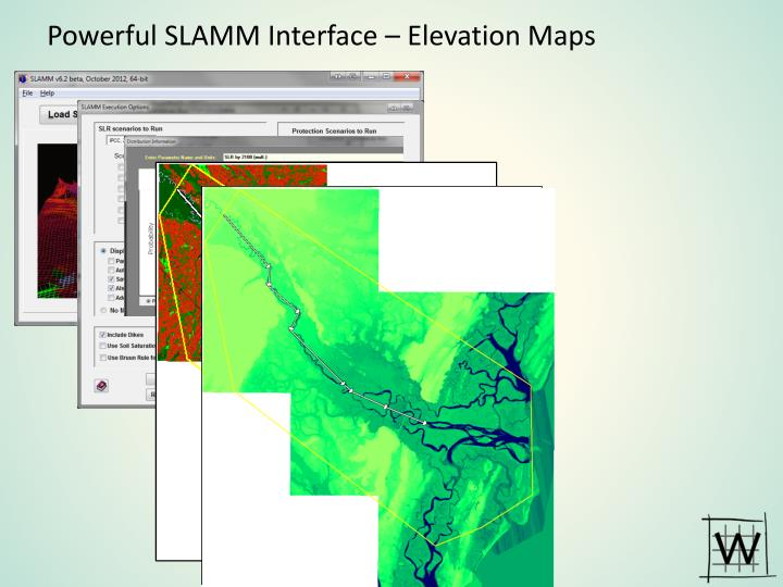 Powerful SLAMM Interface – Elevation Maps