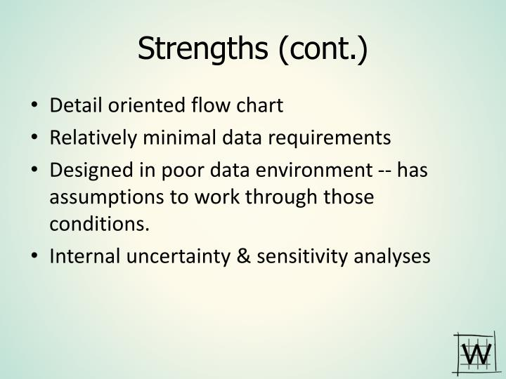 Strengths (cont.)