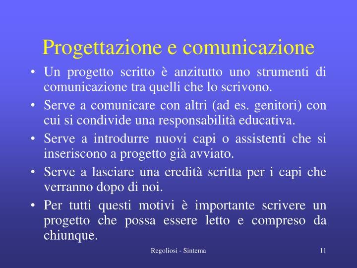 Progettazione e comunicazione