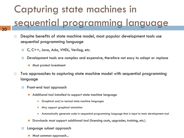 Capturing state machines in