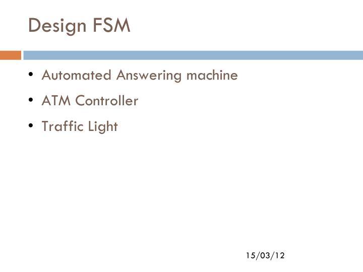 Design FSM