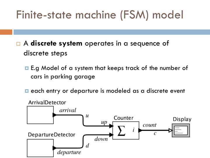 Finite-state machine (FSM) model