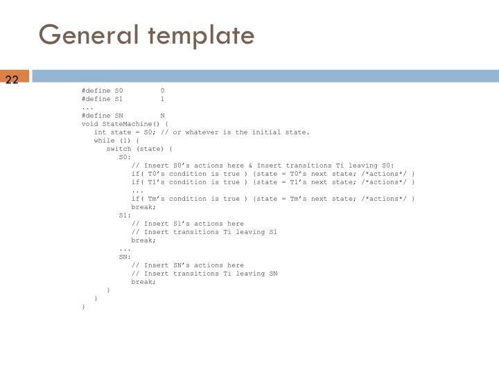 General template