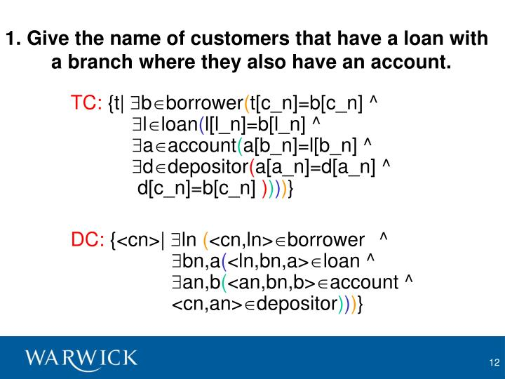 1. Give the name of customers that have a loan with a branch where they also have an account.