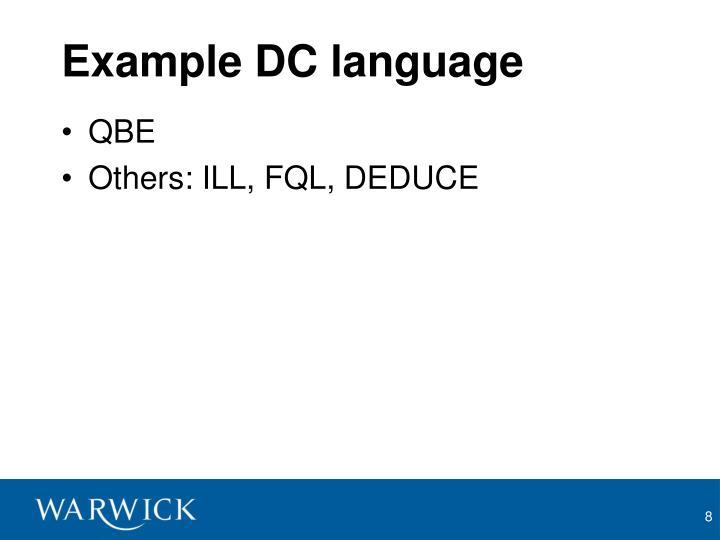 Example DC language