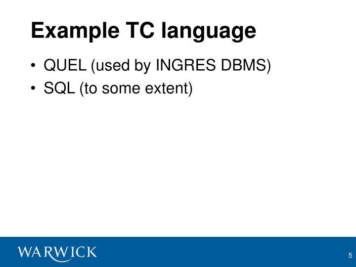 Example TC language
