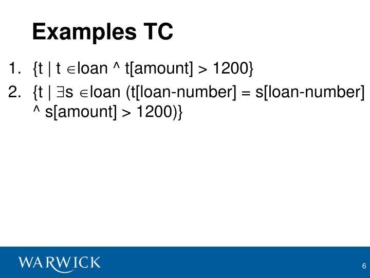 Examples TC