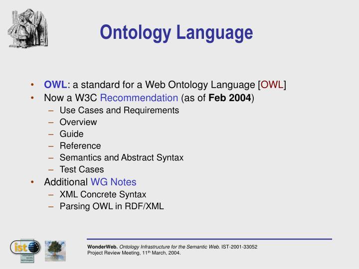 Ontology Language