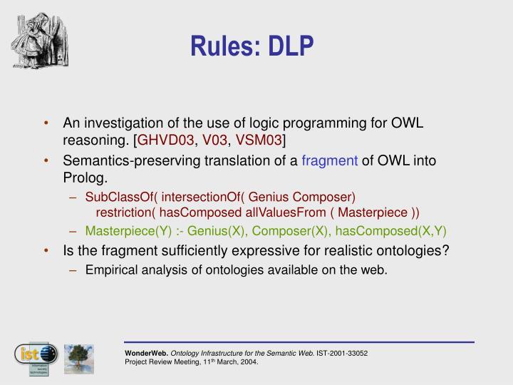 Rules: DLP