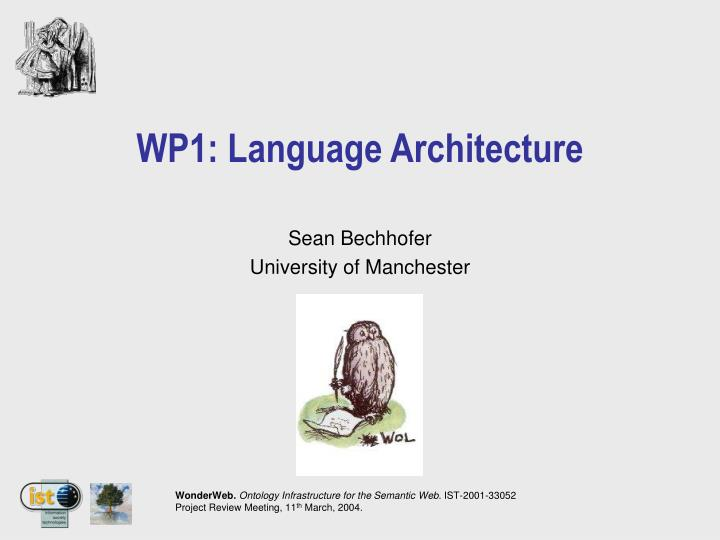 Wp1 language architecture