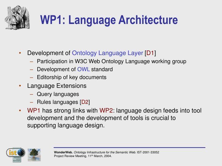 WP1: Language Architecture