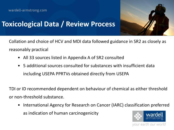 Toxicological Data / Review Process