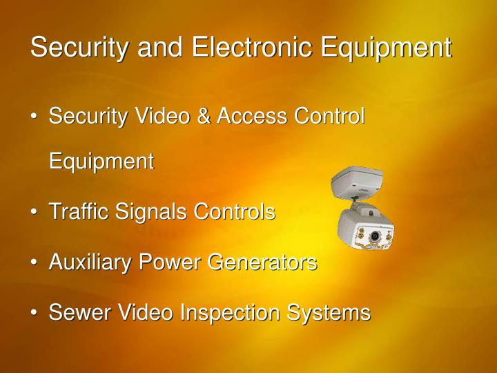 Security and Electronic Equipment