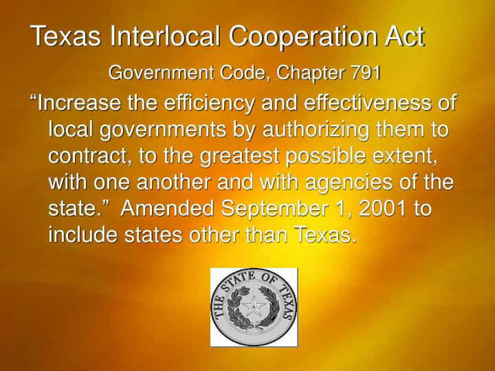 Texas Interlocal Cooperation Act