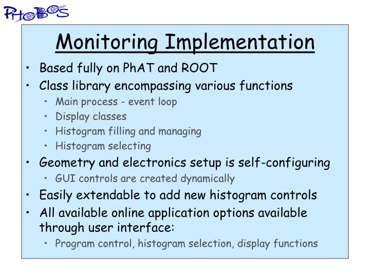 Monitoring Implementation