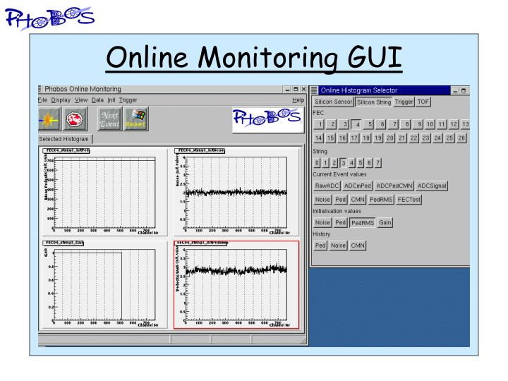 Online Monitoring GUI