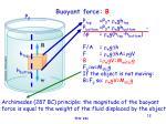 buoyant force b