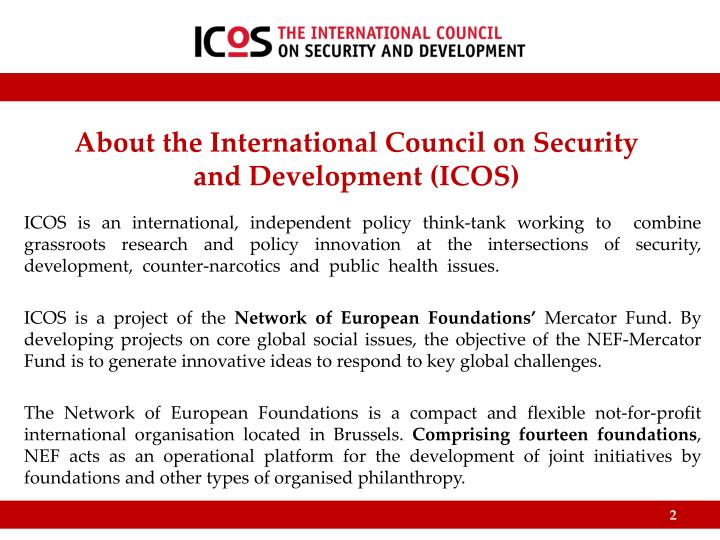 About the international council on security and development icos