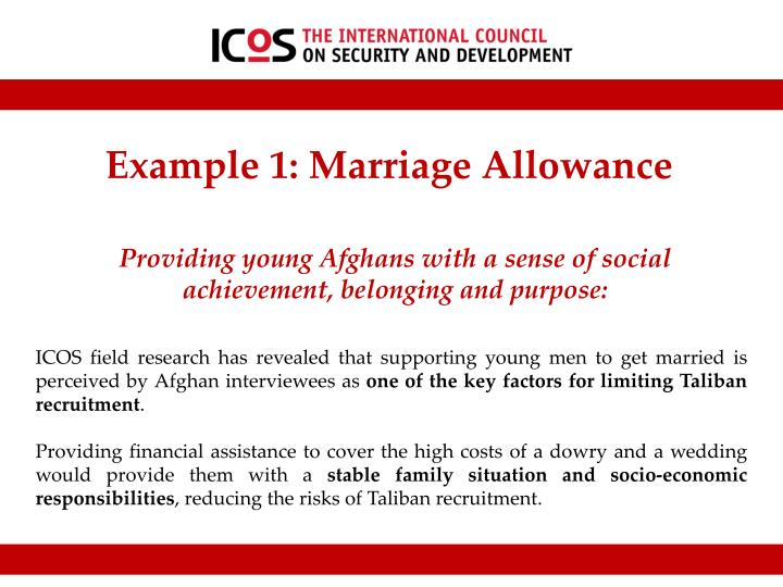 Example 1: Marriage Allowance