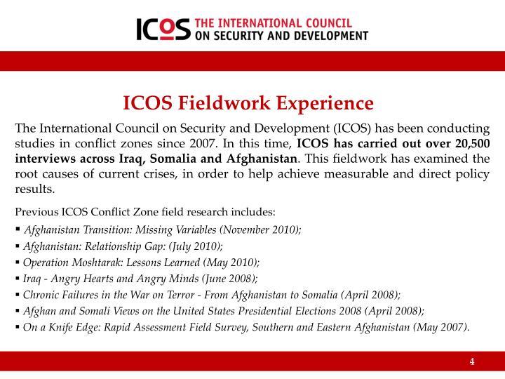 ICOS Fieldwork Experience