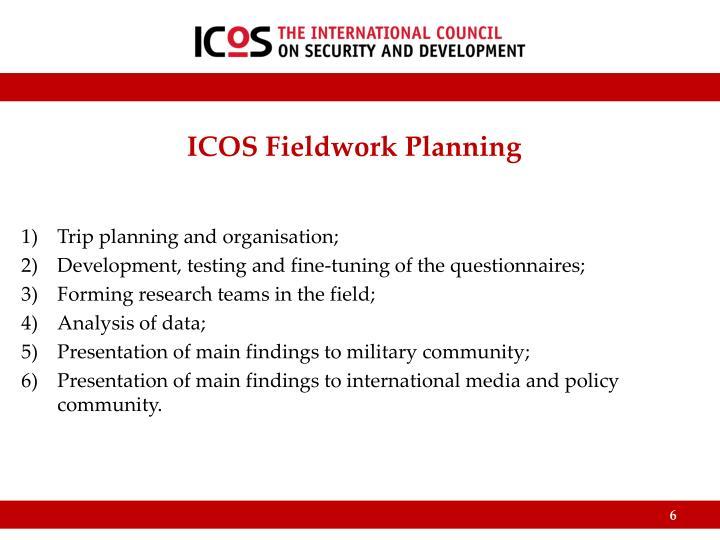 ICOS Fieldwork Planning