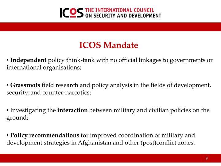 ICOS Mandate
