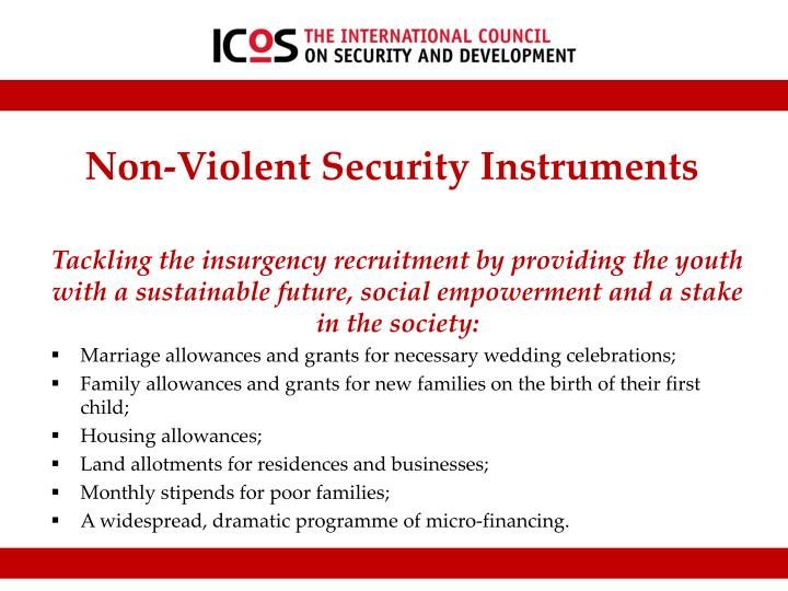 Non-Violent Security Instruments
