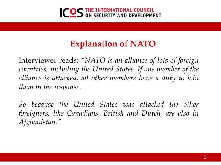 Explanation of NATO