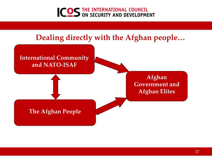 Dealing directly with the Afghan people…