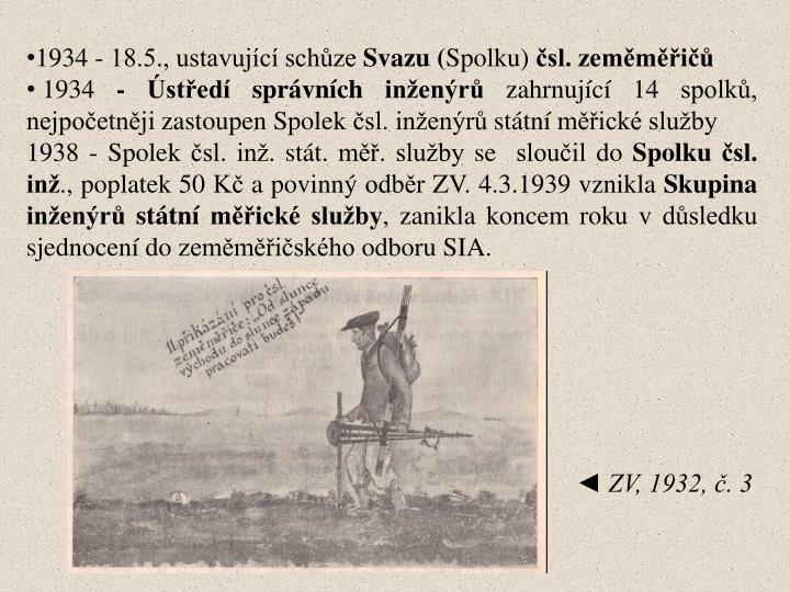 1934 - 18.5., ustavující schůze