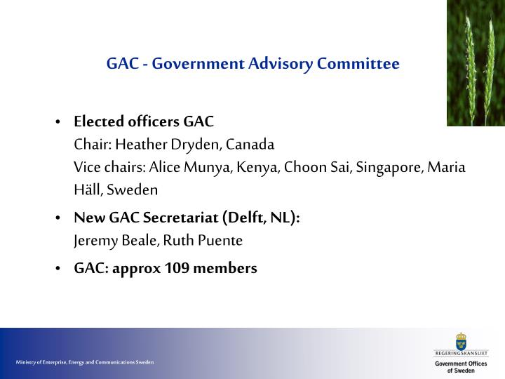 Gac government advisory committee