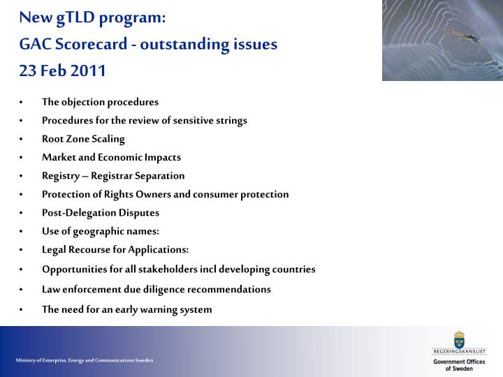 New gtld program gac scorecard outstanding issues 23 feb 2011