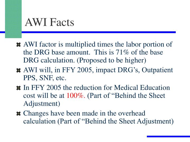 AWI Facts