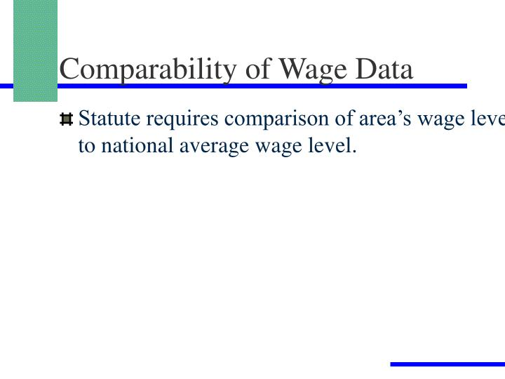 Comparability of Wage Data
