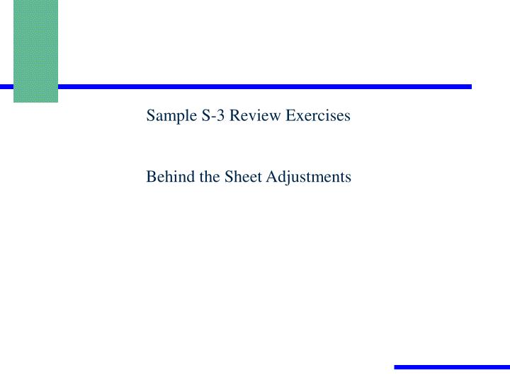 Sample S-3 Review Exercises