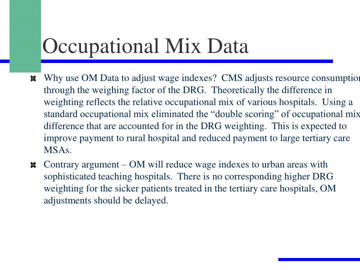 Occupational Mix Data