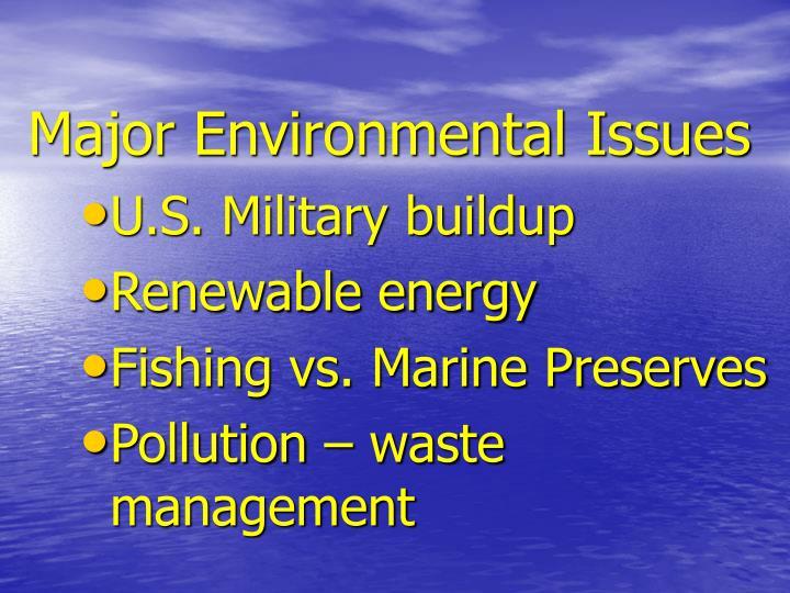 Major Environmental Issues