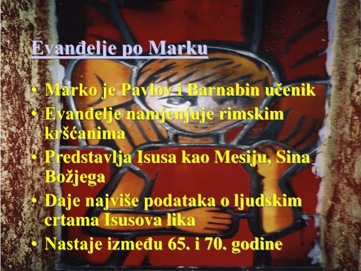 Evanđelje po Marku