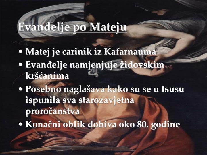 Evanđelje po Mateju
