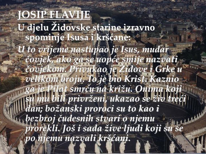 JOSIP FLAVIJE