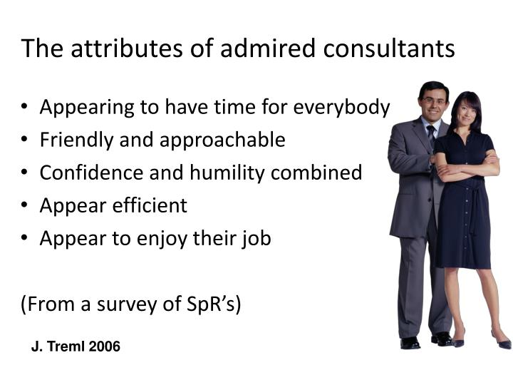 The attributes of admired consultants